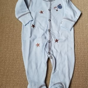Nwt Baby Steps Sports Footed Onepiece Newborn
